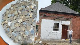 Tajemství pokladu v Ludgeřovicích: V márnici našli tisíce drobných mincí z třetí říše