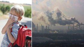 Špinavý vzduch ubližuje mozku nenarozených dětí, varuje studie. Snižuje IQ