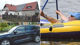 Zeman odjel z chaty do Lán, ve vedru zůstal člun na břehu. Ovčáček vysvětlil přesun