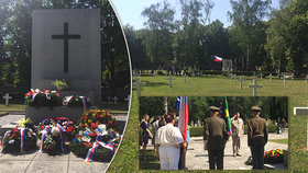 Bez nich by republika nevznikla: Na Olšanském hřbitově se vzpomínali hrdinové bitvy u Zborova