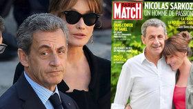 """""""Prcek"""" Sarkozy vyrostl? Exprezident je na obálce časopisu o hlavu vyšší než manželka"""
