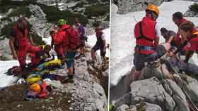 Češka (14) se v Rakousku zřítila do průrvy: Vytahovali ji záchranáři