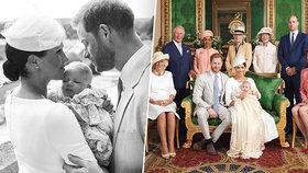 Přísně tajné křtiny Archieho: Královský pár zveřejnil první fotografie! Za kmotry šly sestry princezny Diany?