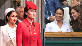 Vévodkyně Meghan po ostudě na Wimbledonu: Dohlíží na ni Kate i se sestrou!