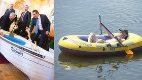 Zemanův gumový člun marně čeká v koutě. Kačenku má prezident v Lánech