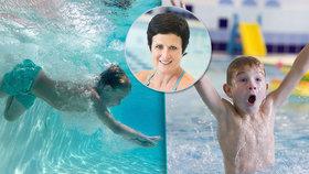 Bezpečné skoky do vody: Na propnuté prsty při šipce zapomeňte, varuje lektorka