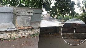 Zeď na Kampě chátrá desítky let. Radnice tomu nečinně přihlíží, ale proč?