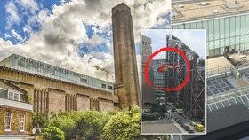 Teenager shodil dítě z věže londýnské galerie Tate Modern. Zasahoval i vrtulník