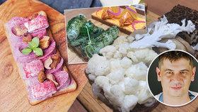 Květákový, s kaprem nebo kuřetem a broskví: Šéfkuchař z pražského bistra servíruje neotřelé chlebíčky