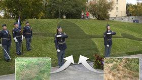 Fajtlův travnatý pomník za 900 tisíc uschl. Praha 6 na něj 9 měsíců kašlala, říká autor. Proč se o trávu nikdo nestaral?