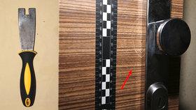 Filuta si ze špachtle vyrobil náhradní kliku: Vykrádal byty, ve kterých nájemníci spali