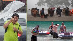 Extrémní počasí a řádění živlů: Tropy v Evropě, supertajfun v Číně a sníh v Austrálii