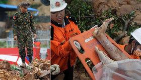 Boj o život v lavinách bahna: Sesuvy půdy zabily v Barmě 50 lidí, tisíce vyhnaly z domovů
