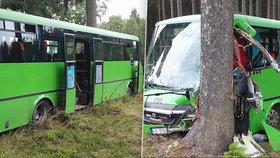 Otřesná nehoda autobusu na Žďársku: Pět vážně zraněných