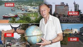 Neuvěřitelný cestovatelský rekord: Miroslav (90) byl v každé zemi světa!
