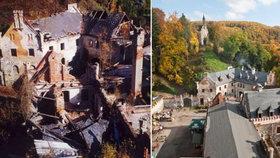Pavel chce svépomocí zachránit rozpadající se hrad: Na střechu mu chybí půl milionu