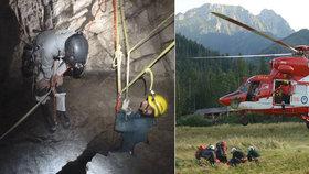 V Tatrách našli věci uvězněných jeskyňářů. Kontakt s dvojicí ale stále chybí