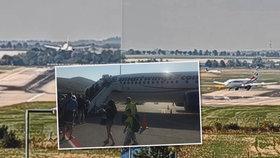 Boeingu Smartwings vypověděl ve vzduchu motor: Unikátní video z přistání