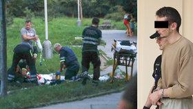 Pokus o vraždu! Žena šla nakoupit, Ukrajinec (18) bodl ji i muže, který jí pomohl. Skončil ve vazbě