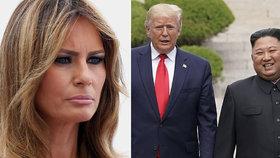 Trump si doma zavařil. Poznámky o Melanii, lásce k vínu a diktátorovi Kimovi žehlí mluvčí