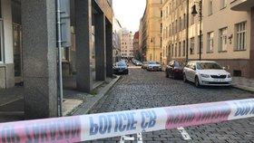 Matka na psychicky nemocného ozbrojeného syna poslala policii: V bytě v Dlouhé ho našli mrtvého