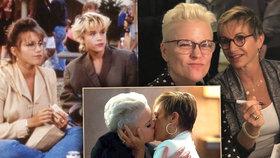 BH 90210 začíná zostra: Šprtka Andrea předvede žhavou líbačku se ženou!