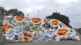 Zeď na Vltavské se pomaluje. Umělecká soutěž má své vítěze