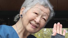 Bývalá císařovna Japonska musela na operaci, našli jí nádor na prsu