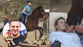 Iva ochrnula po pádu z koně: Judista Lukáš Krpálek nabídl pomoc