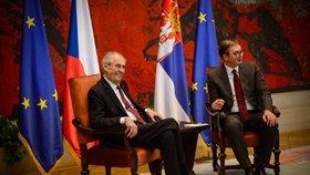 """Zeman je pro Srby hrdina. """"Má brilantní mysl,"""" pěl chválu tamní prezident"""