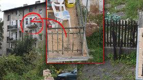Syn (17) v Děčíně prý shodil otce z balkonu: Zbláznil se z LSD, tvrdí známá