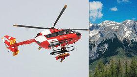 Vyčerpaný Čech uvízl v alpském ráji. Vysvobodil ho až vrtulník