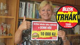Soňa (69) vyhrála 10 000 v Trháku Blesku: Peníze padnou na Vánoce!