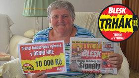 Eliška (70) už má výhru 10 000 z Trháku v kapse! Těší se na supermoderní vysavač!