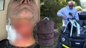 Igorovi ocelové lano téměř uřízlo hlavu! Při pádu ho zachránila helma