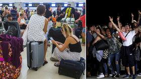 Vyděšení turisté slavili návrat domů: Otazníky a detaily krachu obří cestovky Thomas Cook