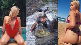 Neteř lovce krokodýlů (†44), kterého zabil rejnok, je neskutečná kočanda. Zadek špulí veřejně