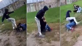Nové video ze Sedlčan: Zkus bonzovat, zmr*e! Násilník oběti kopal do hlavy, ostatní se smáli