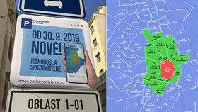 Parkování v Brně: Nemusíte chodit kvůli platbě na úřad, stačí mít u města svůj účet