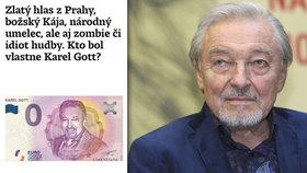 Slováci posmrtně urazili Gotta (†80): Idiot a zombie, napsali, pak se omluvili