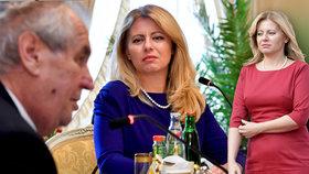 """Záhada pohledu Čaputové: Pohrdání, či lítost? """"Tolerantní"""" Zeman si do ní rýpl za zpoždění"""