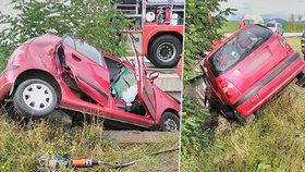 Řidič (†34) na Plzeňsku sjel ze silnice a naboural: Na místě zemřel