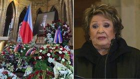 Tajemství dojemného proslovu na pohřbu Gotta (†80): Bohdalová byla na prášcích!