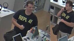 Drzý zloděj v pražském obchodním centru: Ukradl drahý mobil přímo z pultu