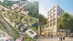 VIZUALIZACE: Smíchov City se začne stavět už letos. Kanceláře budou do roku 2025