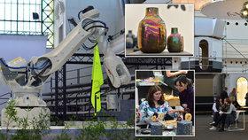Vesmírná galerie, obří robotické rameno s konvicí. Pražané žasnou nad budoucností na Designbloku