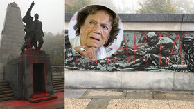 "Zničili dílo expartnera Chramostové! Pomník Rudé armády v Ostravě se ""topí v krvi"""
