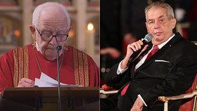 Kněz Piťha odmítl metál od Zemana. Prezident to dostal písemně, řekl Blesku