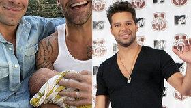 Ricky Martin je čtyřnásobný tatínek! Jen po 10 měsících další přírůstek