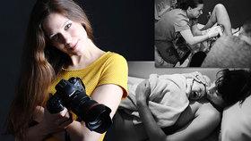 """FOTO: Zachycuje nejintimnější chvíle zrození života: """"Po prvním porodu jsem plakala,"""" říká Daniela"""